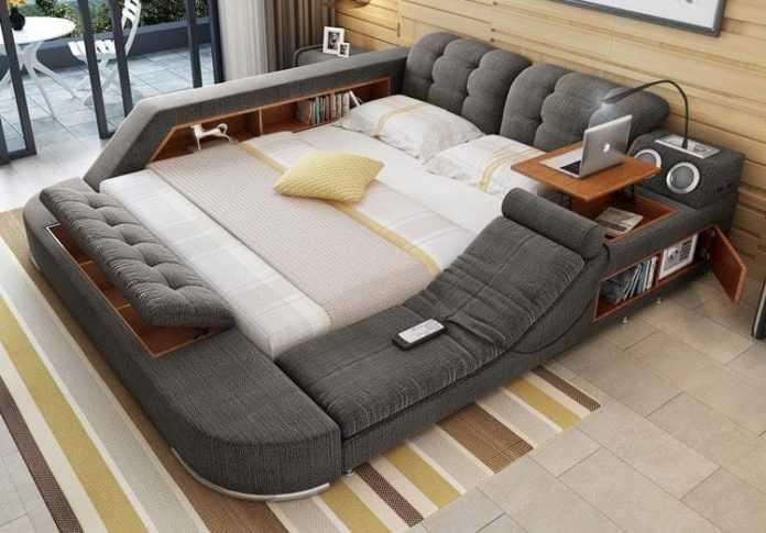 Универсальная кровать, в которой есть всё необходимое