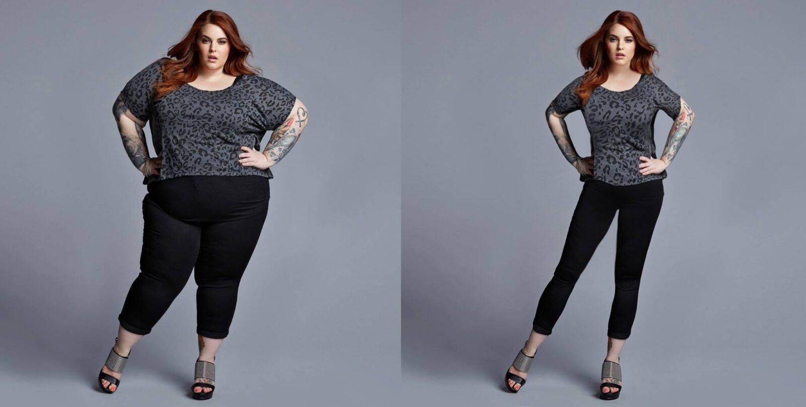 Девушкам показали фото, где они худые