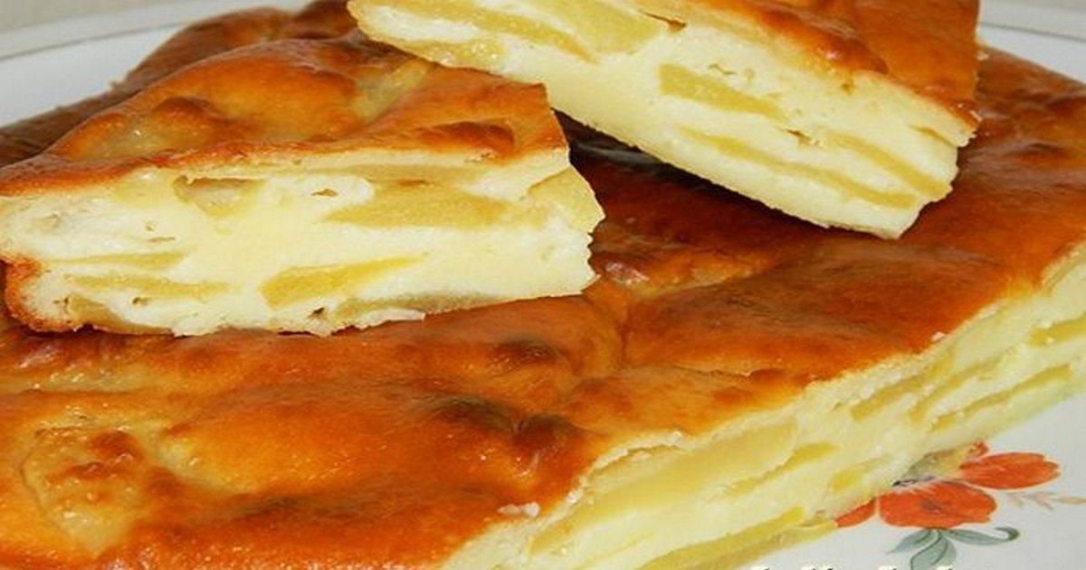 Шарлотка с яблоками на сметане — вы влюбитесь в данный пирог